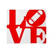love_1_rojo Throw Blanket
