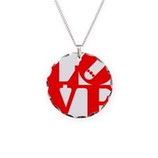 love_1_rojo Necklace
