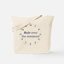 Resumes_Rule_RK2010_WallClock Tote Bag