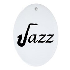 Jazz Saxophone Ornament (Oval)