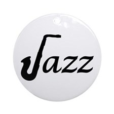 Jazz Saxophone Ornament (Round)