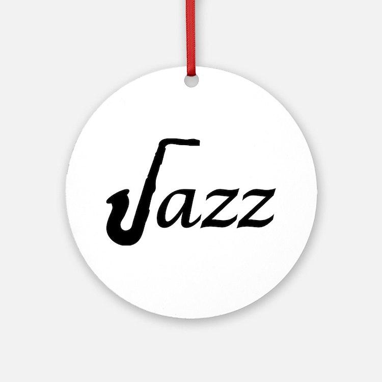 Jazz Saxophone Ornament (Round)