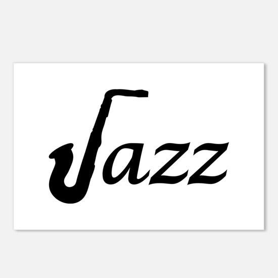 Jazz Saxophone Postcards (Package of 8)