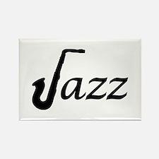 Jazz Saxophone Rectangle Magnet