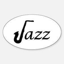 Jazz Saxophone Sticker (Oval)