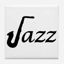 Jazz Saxophone Tile Coaster