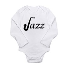 Jazz Saxophone Long Sleeve Infant Bodysuit
