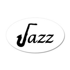 Jazz Saxophone 35x21 Oval Wall Decal