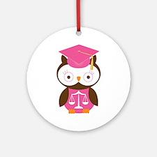 Graduate Law Student Owl Ornament (Round)