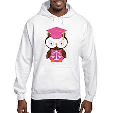 Graduate Law Student Owl Hoodie
