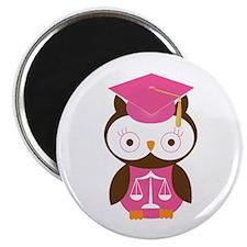 Graduate Law Student Owl Magnet