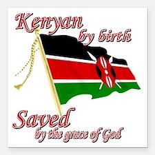 """kenyanew Square Car Magnet 3"""" x 3"""""""