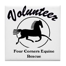 Volunteer logo Tile Coaster