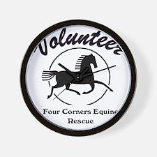 Volunteer logo Wall Clock