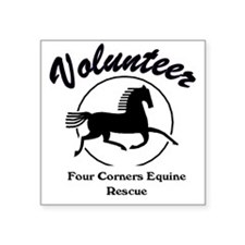 "Volunteer logo Square Sticker 3"" x 3"""
