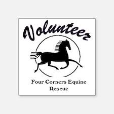 "Volunteer logo Square Sticker 3"" x 3"""