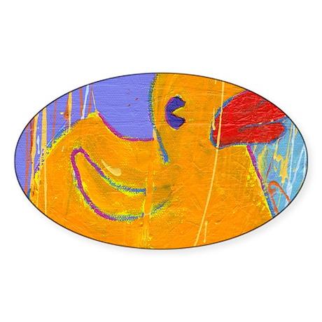 pad 87 rubber duckie Sticker (Oval)