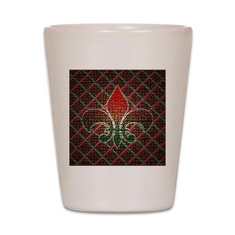 Xmas Fleur Mosaic Shot Glass