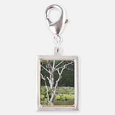 Cape Breton tree - iPhone 4  Silver Portrait Charm