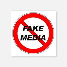 "Fake-Media Square Sticker 3"" x 3"""
