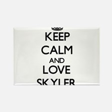 Keep Calm and Love Skyler Magnets