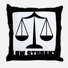 Law School Student Throw Pillow