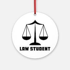 Law School Student Ornament (Round)
