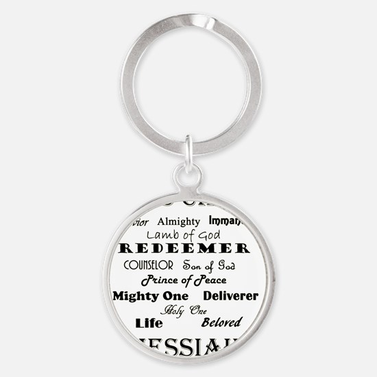 names of jesus Round Keychain