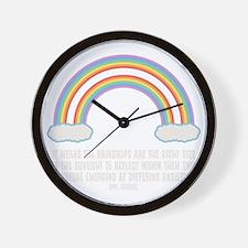 dbl-rainbow-DKT Wall Clock