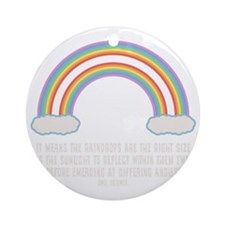 dbl-rainbow-DKT Round Ornament