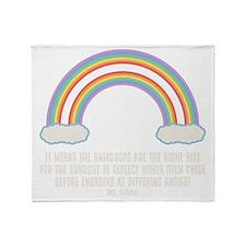 dbl-rainbow-DKT Throw Blanket