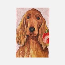 Irish Setter Rose Rectangle Magnet