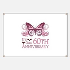 60th Wedding Aniversary (Butterfly) Banner