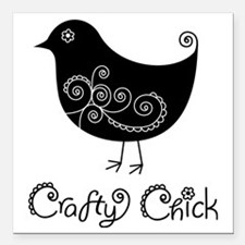 "craftychick Square Car Magnet 3"" x 3"""
