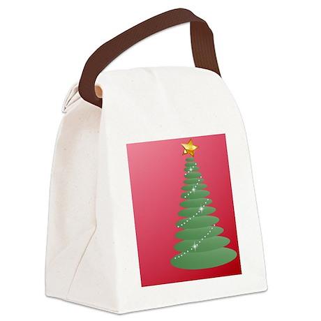 SimpleTreeInsideCardP Canvas Lunch Bag