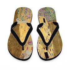 The Kiss by Gustav Klimt Flip Flops