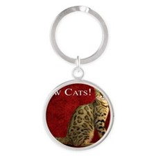 Show Cats Cover Round Keychain