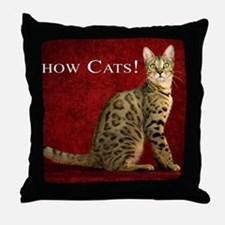 Show Cats Cover Throw Pillow