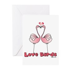 Love Birds (Flamingos) Greeting Cards (Package of