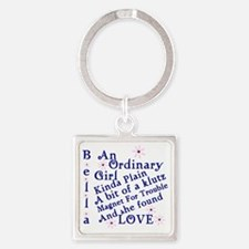 Bella Ordinary Square Keychain