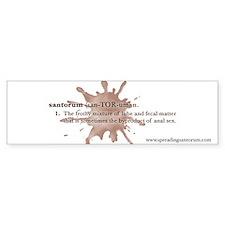 Santorum Bumper Bumper Sticker