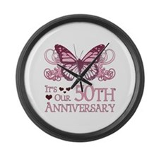 50th Wedding Aniversary (Butterfly) Large Wall Clo