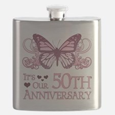50th Wedding Aniversary (Butterfly) Flask
