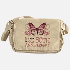 50th Wedding Aniversary (Butterfly) Messenger Bag