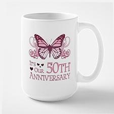 50th Wedding Aniversary (Butterfly) Large Mug