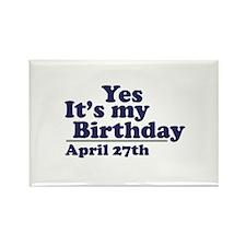 April 27 Birthday Rectangle Magnet