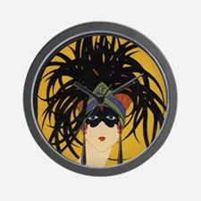 Art Deco Lady Wall Clock