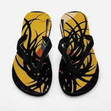 Art Deco Lady Flip Flops