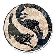 yin_yang_wolves Round Car Magnet