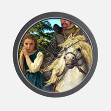 Alice  The White Knight Wall Clock
